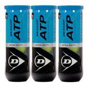 Bola de Tênis Dunlop ATP Tubo Pack Com 03 Tubos