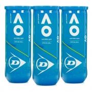 Bola De Tênis Dunlop Australian Open Pack Com 03 Tubos
