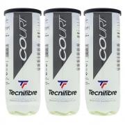 Bola de Tênis Tecnifibre Court Pack Com 03 Tubos