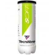 Bola de Tênis Tecnifibre Soft Stage 1 Verde Tubo Com 03 Bolas