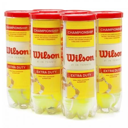 Bola de Tênis Wilson Championship Pack Com 06 Tubos