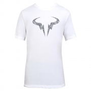 Camiseta Nike Court Dri-Fit Rafa Clay Branco e Azul - Masculino