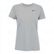 Camiseta Nike Dry Legend Tee Crew Cinza e Preto - Feminino