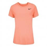 Camiseta Nike Dry Legend Tee Crew Salmão e Preto - Feminino