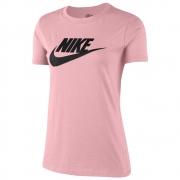 Camiseta Nike Essentials Icon Rosa e Preta - Feminina