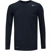 Camiseta Nike Manga Longa Dri Fit Legend Preto