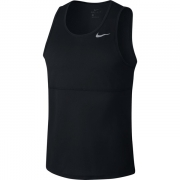Camiseta Nike Regata Breathe Run Tank Preto e Prata