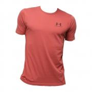 Camiseta Under Armour Sportstyle Left Vermelho e Preto - Masculino