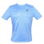 Camiseta Wilson Trainning 10 Azul Cinza e Preto - Masculino