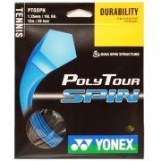 Corda Yonex Poly Tour Spin 1.25 Set Individual Azul