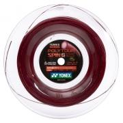 Corda Yonex Poly Tour Spin G 1.25mm Vermelha Rolo Com 200 Metros