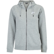 Jaqueta Nike NSW Essential Hoodie FZ FLC Cinza - Feminino