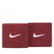 Munhequeira Nike Pequena Swoosh Vermelho e Branco