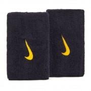Munhequeira Nike Swoosh Longa Marinho e Ouro