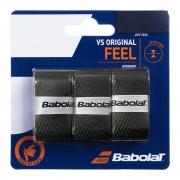 Overgrip Babolat VS Original Preto e Amarelo Com 03 Unidades