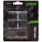 Overgrip Prince Dura Pro+ Preto Com 03 Unidades