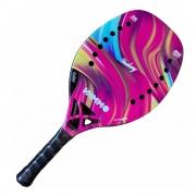 Raquete De Beach Tennis Vammo Headway Carbono 3K Pink