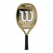 Raquete de Beach Tennis Wilson WS 23.20 Dourada e Branca