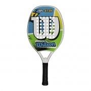 Raquete de Beach Tennis Wilson WS 27.20 Azul e Verde