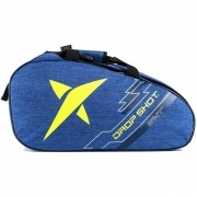 Raqueteira de Beach Tennis Drop Shot Essential Azul e Amarelo