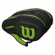Raqueteira de Beach Tennis e Padel Wilson Preta e Verde