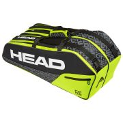 Raqueteira Head Core 6R Combi Preta e Verde Limão