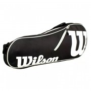 Raqueteira Wilson ESP Advantage II X3 Preta e Branca