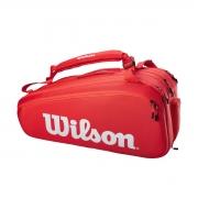 Raqueteira Wilson ESP Super Tour X15 Vermelha e Branca