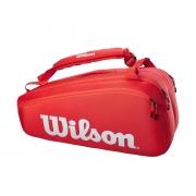 Raqueteira Wilson ESP Super Tour X9 Vermelha e Branca