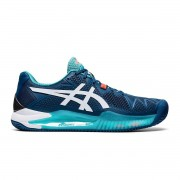 Tênis Asics Gel Resolution 8 Clay Mako Azul e Branco - Masculino