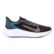 Tênis Nike Air Zoom Winflo 7 Preto e Laranja - Masculino