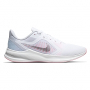 Tênis Nike Downshifter 10 Cinza Claro e Prata - Feminino