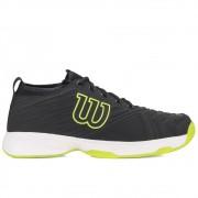 Tênis Wilson Pro Open Preto e Verde Limão