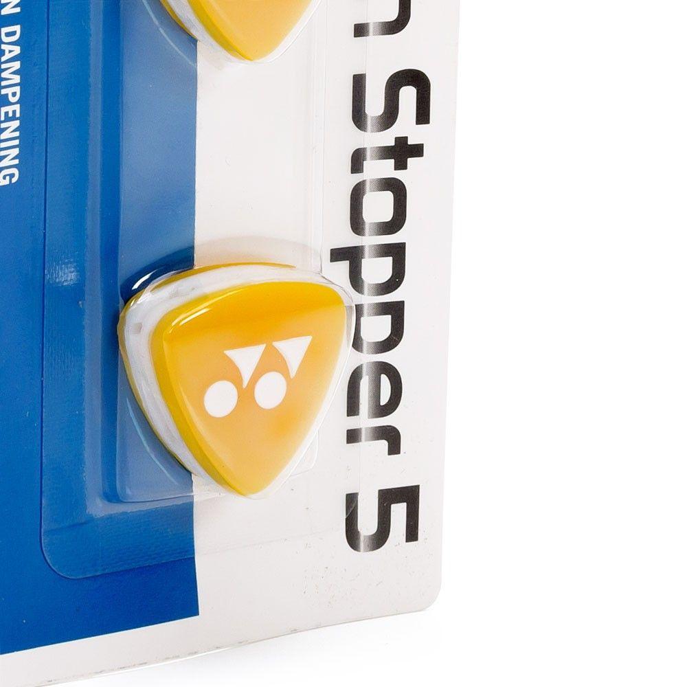 Antivibrador Yonex Logo Amarelo Com 02 unidades