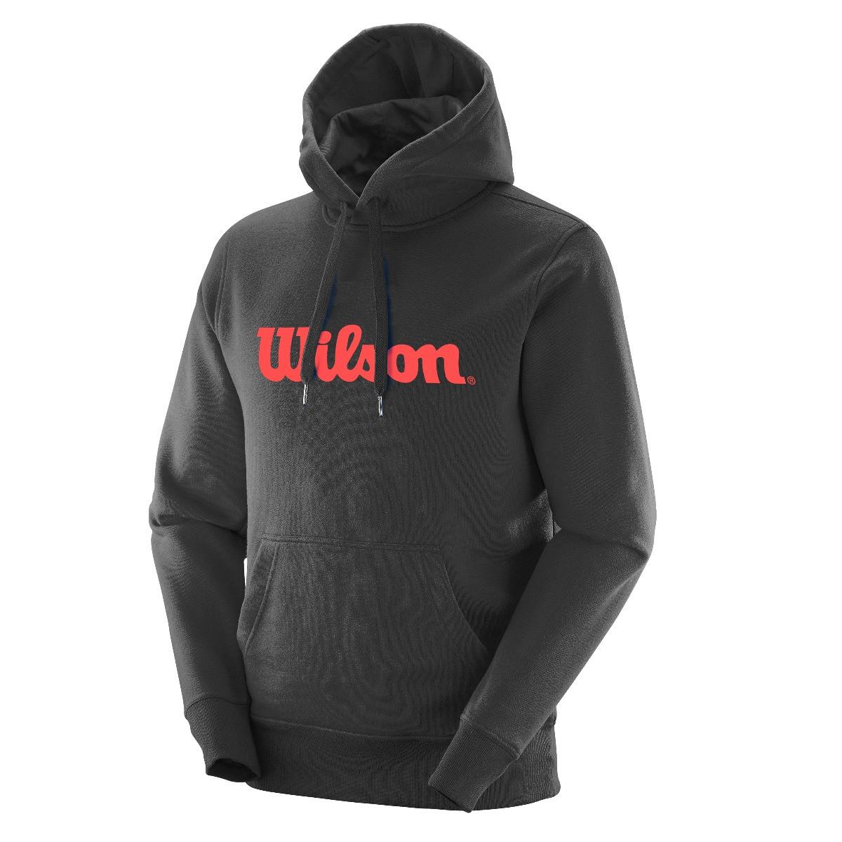 Blusa Wilson Graphic Hoodie II Preto e Vermelho