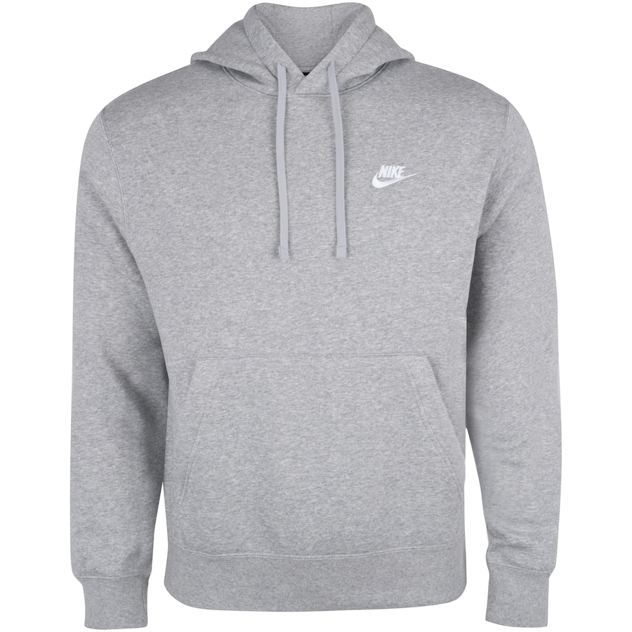 Blusão Nike NSW Club Hoodie PO Cinza - Masculino