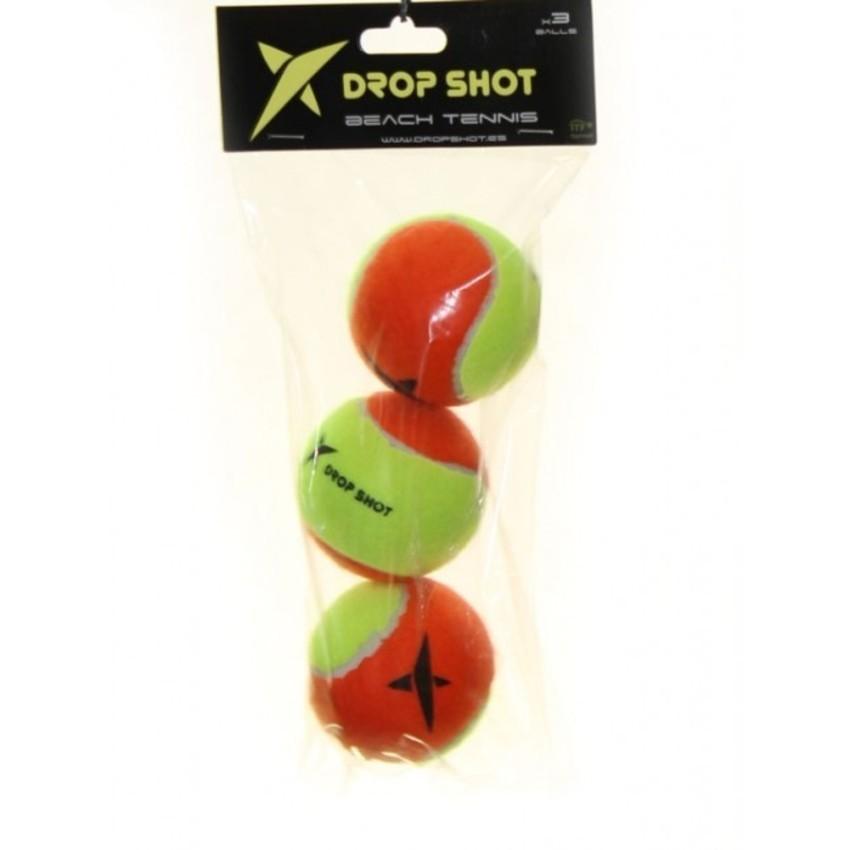 Bola de Beach Tennis Drop Shot Pack Com 03 Unidades