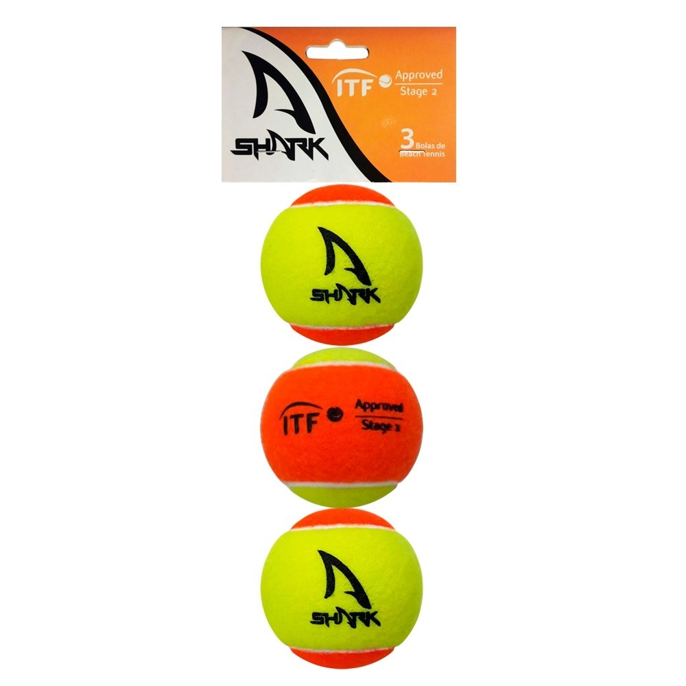 Bola de Beach Tennis Shark Pack Com 03 Unidades