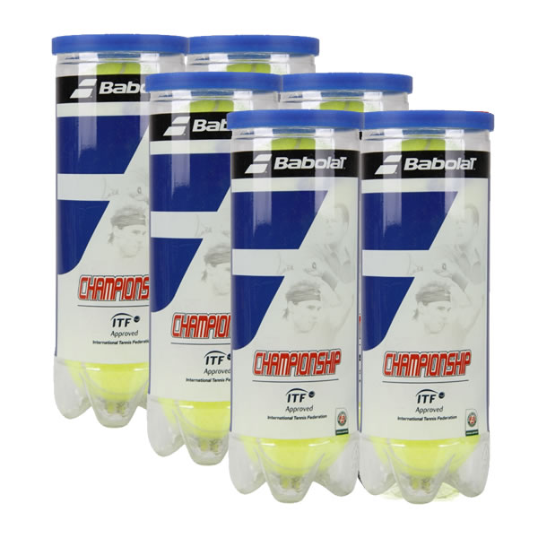 Bola de Tênis Babolat Championship Pack com 6 tubos