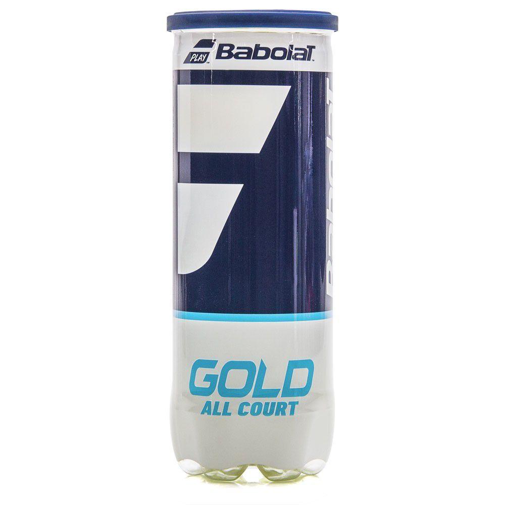 Bola de Tênis Babolat Gold All Court Tubo Com 03 Bolas