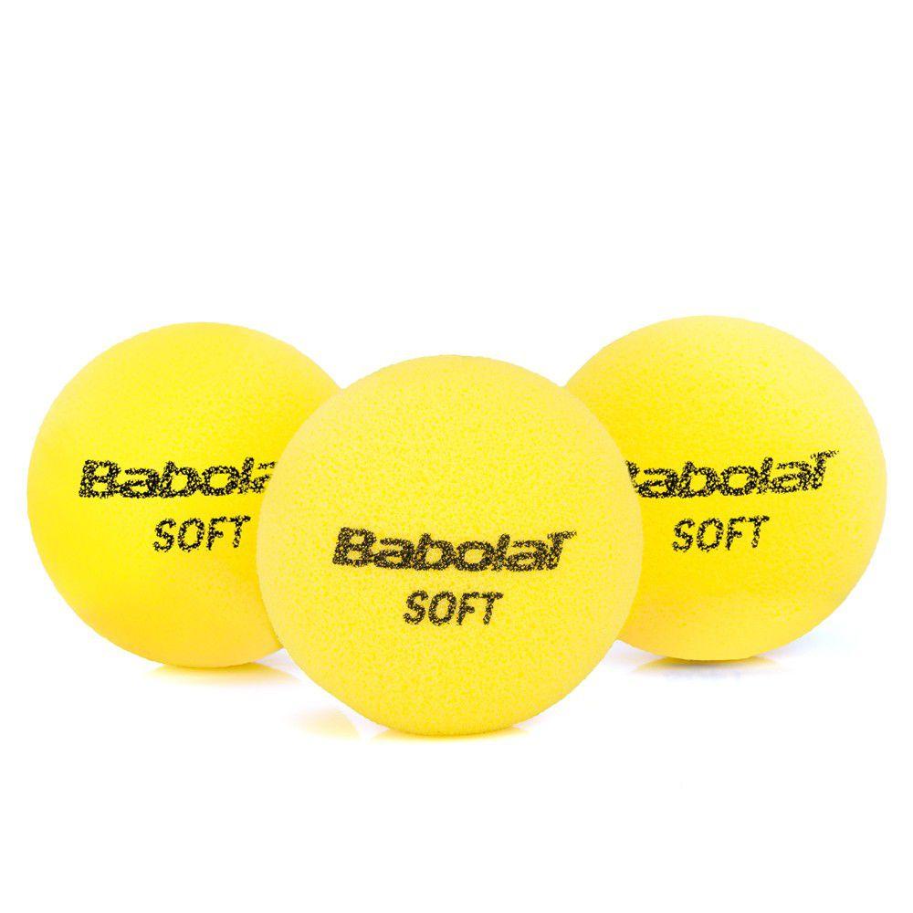 Bola de Tênis Babolat Infantil Soft Foam Com 03 Unidades