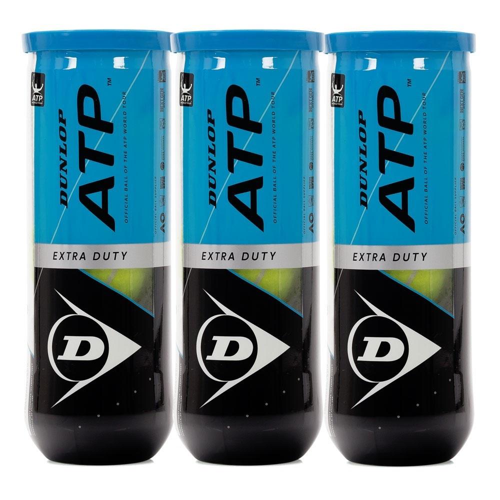 Bola De Tênis Dunlop ATP Pack Com 03 Tubos