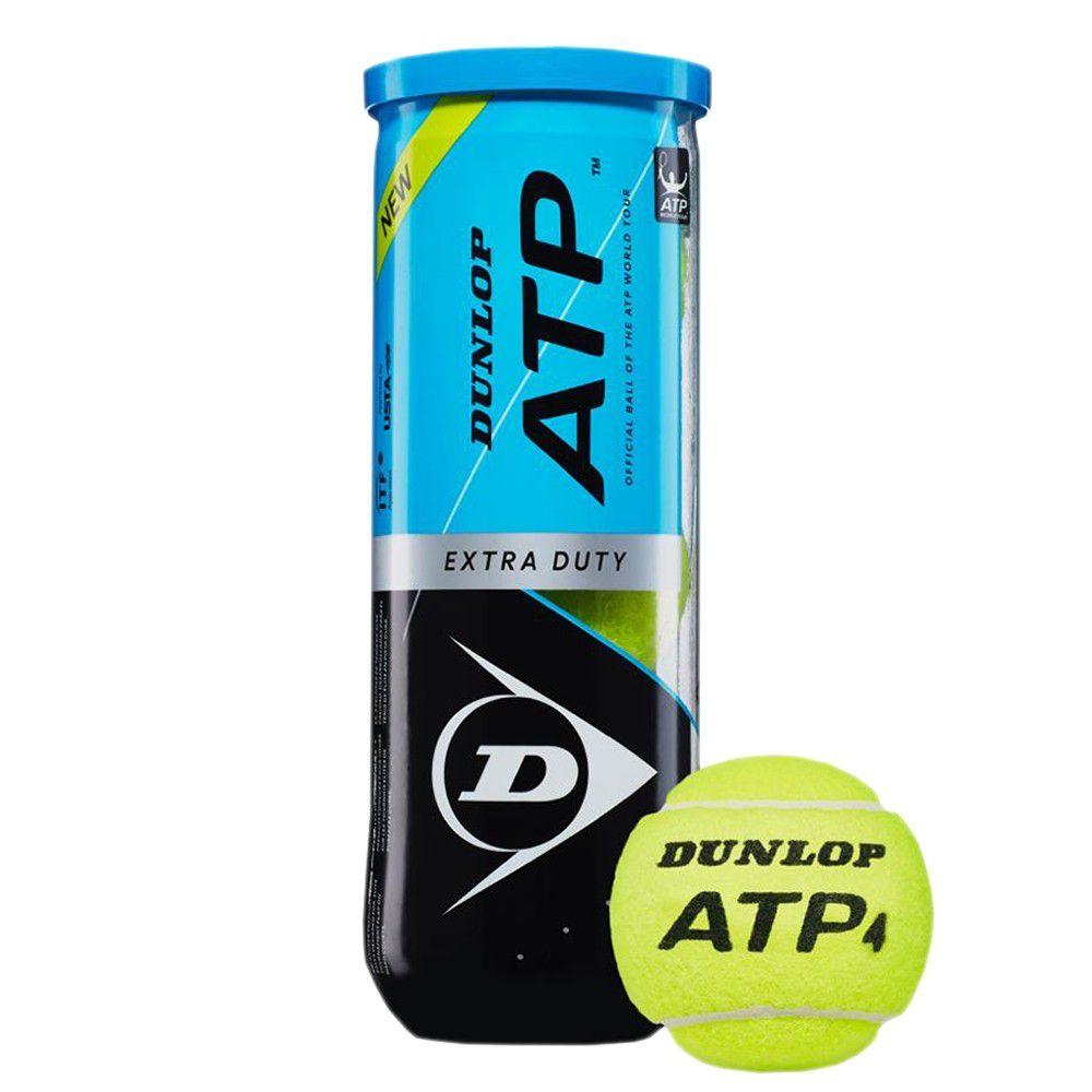 Bola de Tênis Dunlop ATP Tubo Com 03 Unidades