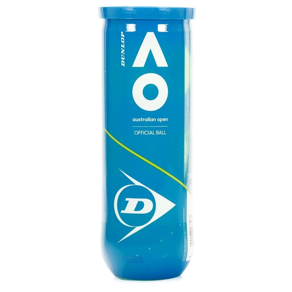 Bola De Tênis Dunlop Australian Open Tubo Com 03 Bolas