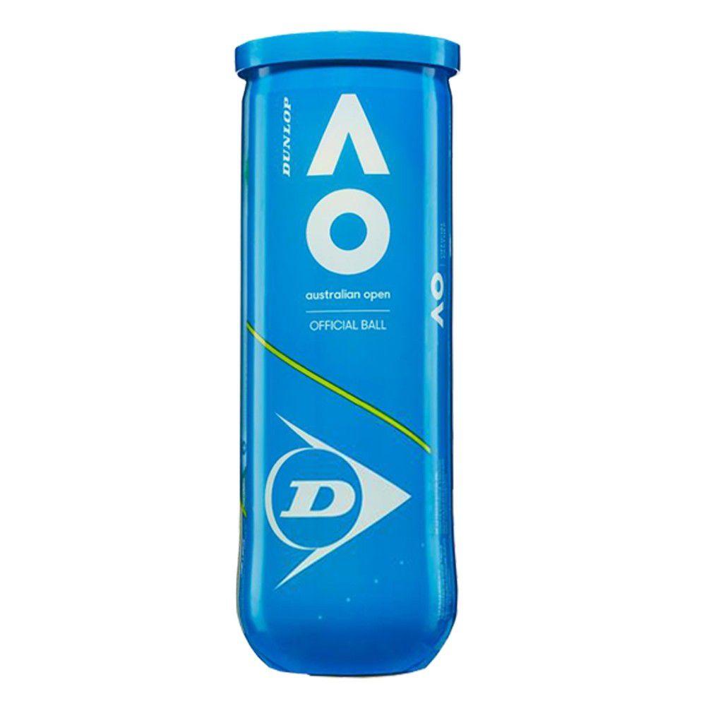 Bola de Tênis Dunlop Australian Open Tubo Com 03 Unidades