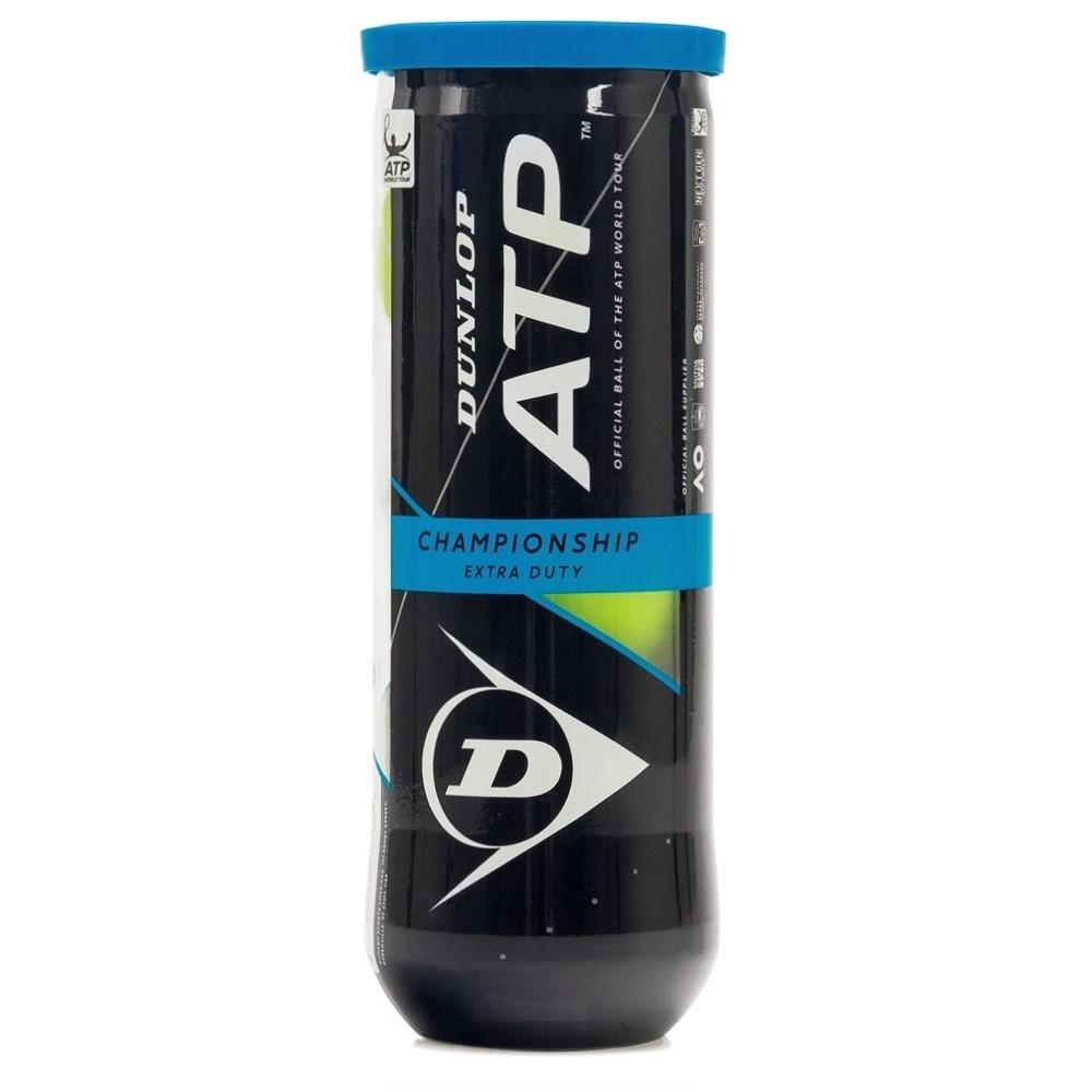Bola De Tênis Dunlop Championship ATP Tubo Com 03 Bolas