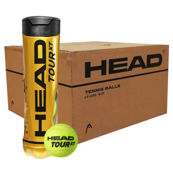 Bola de Tênis Head Tour XT Caixa Com 18 Tubos