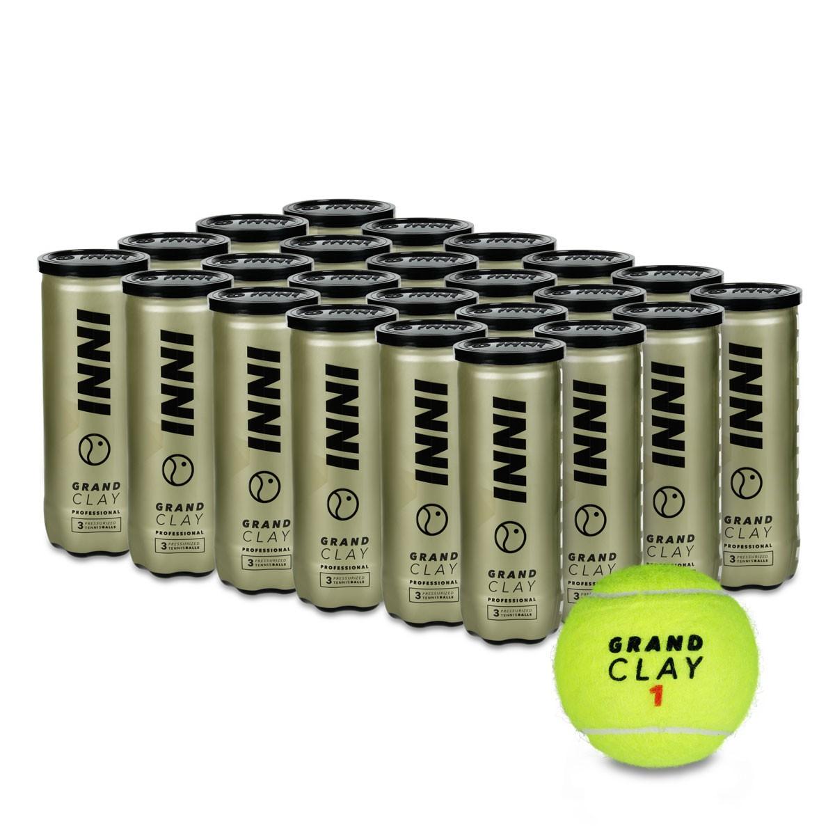 Bola de Tênis Inni Grand Clay - Caixa Com 24 Tubos
