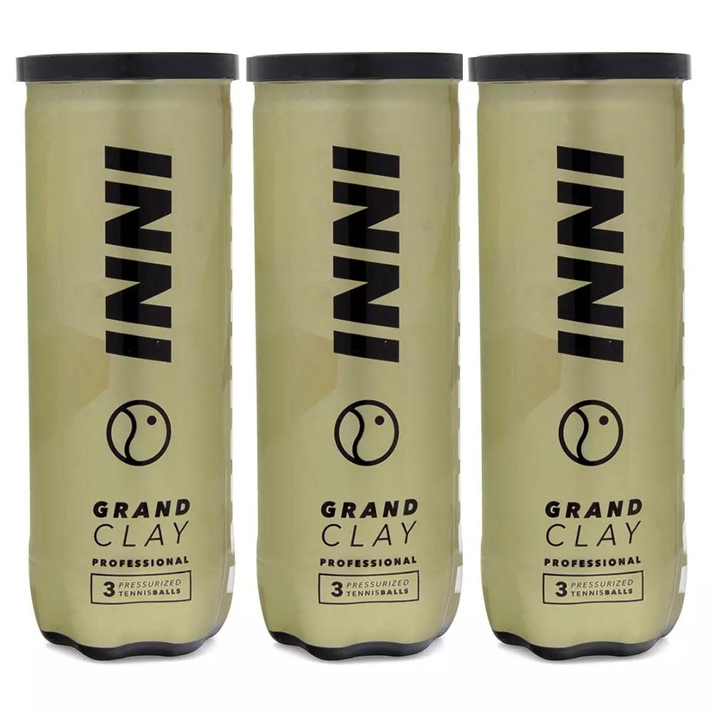 Bola de Tênis Inni Grand Clay Pack Com 03 Tubos