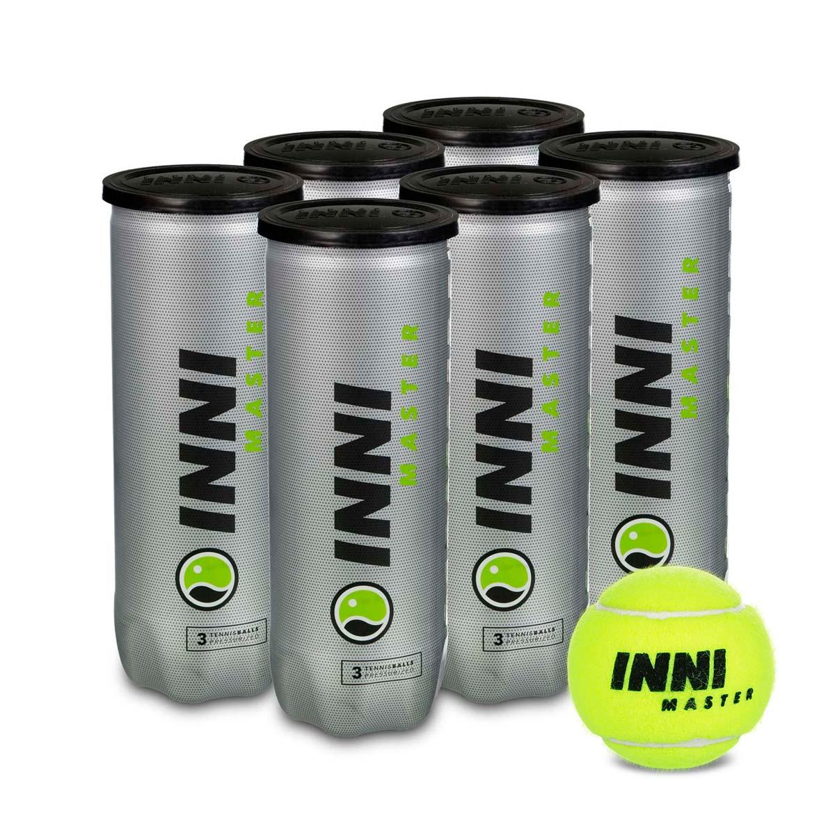 Bola de Tênis Inni Master - Pack Com 06 Tubos